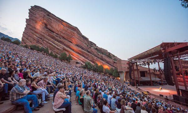 Yo-Yo Ma performs at Red Rocks Amphitheatre in Morrison, Colorado.  Photo by Ellen Jaskol.  August 1, 2018.